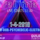Palyrrιa Live @Quilombo Centro Cultural | 01.04.2018